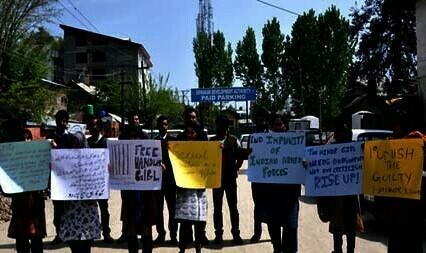 Students Stage Demo; Demand Release Of Handwara Girl