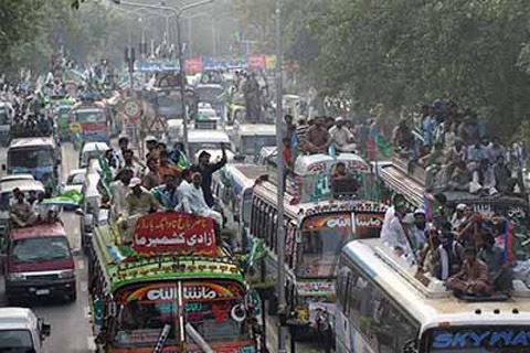 Kashmir Crisis: Jamaat-e-Islami Pakistan Holds 'Azadi-e-Kashmir' March