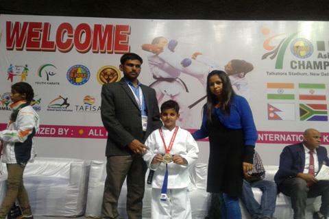 7 Year Old Kashmiri Boy Wins Asian Karate Championship