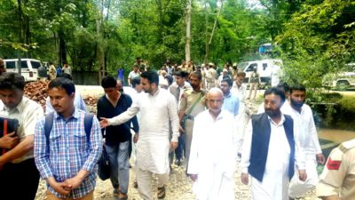 MLA Wachi Leads Peace March In Zainpoara; Appeals Calm
