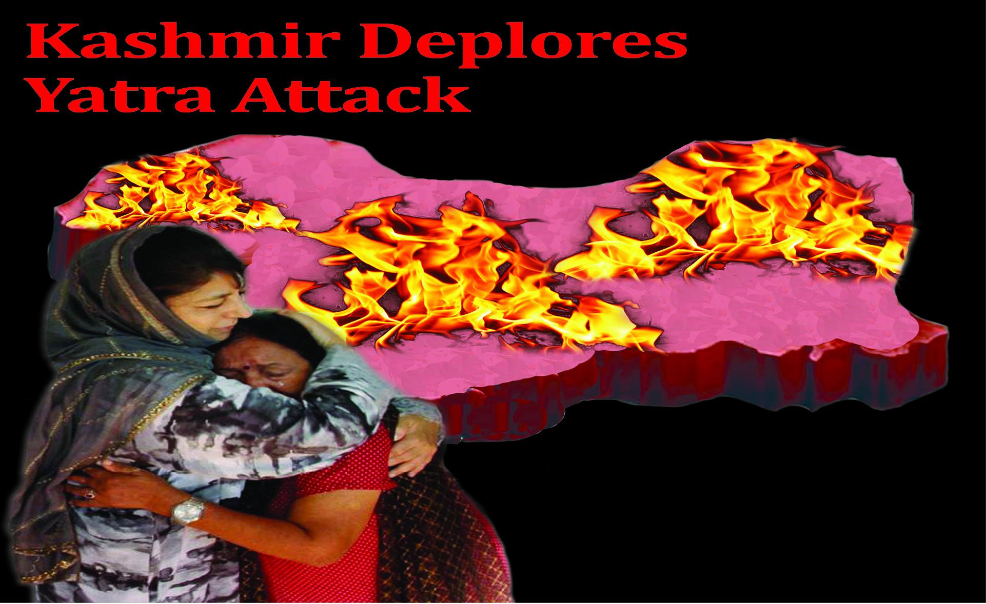 Kashmir Deplores Yatra Attack