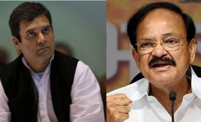 RS Chairman Venkaiah Naidu Sends Privilege Notice To Lok Sabha Against Rahul Gandhi