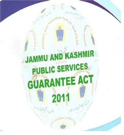 Public Service Guarantee Act, Weapon Of A Common Man