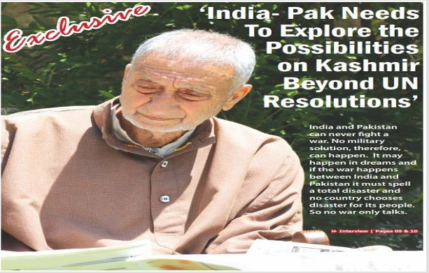 Exclusive: 'India- Pak Needs To Explore the Possibilities On Kashmir Beyond UN Resolutions'