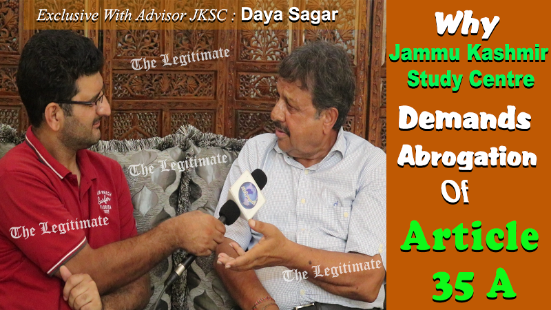 Watch: Why Jammu Kashmir Study Centre Demands Abrogation Of Article 35A?