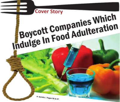 Boycott Companies Which Indulge In Food Adulteration