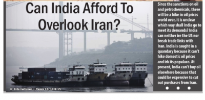 Can India Afford To Overlook Iran?
