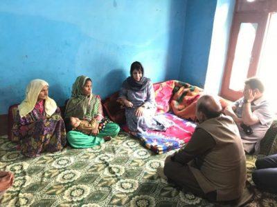 Uri Gang Rape-Murder: Mehbooba Visits Victims Family