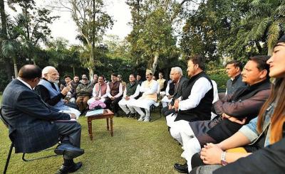 Sarpanches From JK Meet PM Modi
