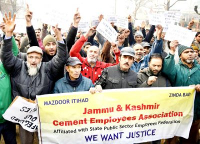 JK Cements Employees Protest To Demand Release Of Salaries